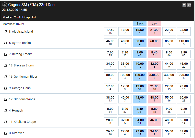 BetFair allows you to bet against horses