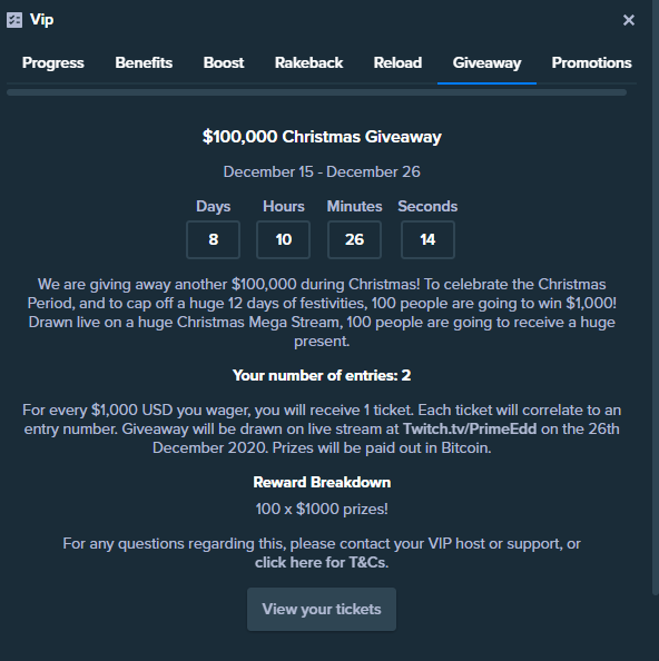 Stake $100k Giveaway